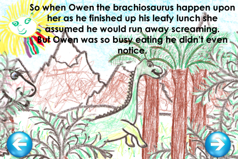 Screenshot Lauren, The Tickle-saurus Rex – Interactive Children's Book